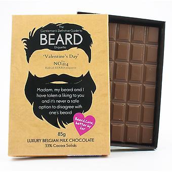 Regalo divertido día de San Valentín para hombres barbudos Barba Amante presente chocolate tarjeta de felicitación BTQ122