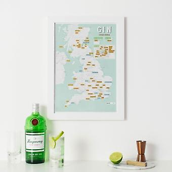 Lovell Johns Gin Collect & Scratch Map
