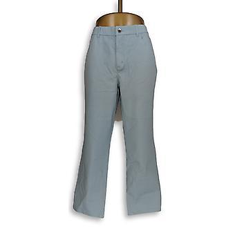 H by Halston Women's Pants Studio Stretch 5-Pocket Straight Blue A289579