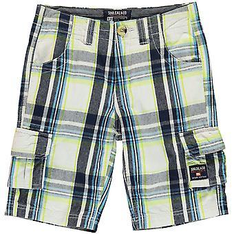 SoulCal Kids verificat cargo pantaloni scurți pantaloni băieței Junior Boys șase buzunare design
