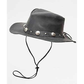 Joe Browns Womens nödställda läder cowboy stil hatt