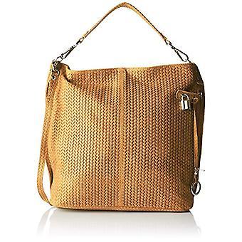 Chicca Bags 80051 Women's Orange shoulder bag (Leather) 44x45x15 cm (W x H x L)