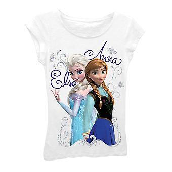 Disney congelados meninas Elsa branca e camiseta de Anna 7-16
