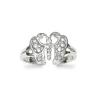 925 sterling sølv solid polert butterfly engel vinger tå ring smykker gaver til kvinner