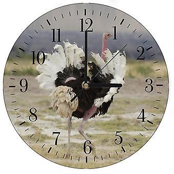 Reloj decorativo con imagen, avestruz