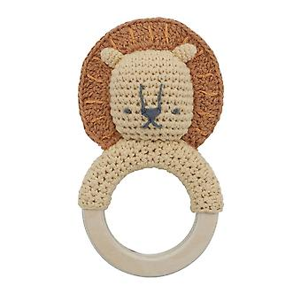 Sebra - baby rattle - lee on ring