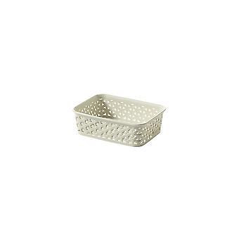 Curver  My Style Faux Rattan A6 Sized Storage Basket - Cream
