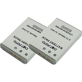 2 x de batterij van de vervanging van de Dot.Foto reiziger 02491-0051-02 - 3.7V / 750mAh