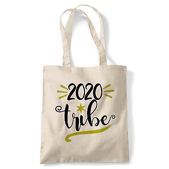 2020 stamme tote | Secret Santa strømpe filler gave til stede ideal | Gjenbrukbare shopping Cotton Canvas Long håndtert Natural shopper miljøvennlig mote
