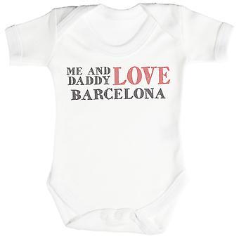 Me & Daddy Text Love Barcelona Baby Bodysuit / Babygrow