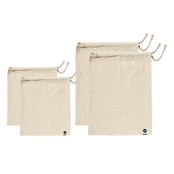 Ladelle Eco Recycled Natural Fabric Produce Bag Set