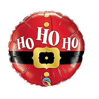 Qualatex kerst folie ballon met Santas riem ontwerp