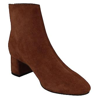 Leather Collection Womens/Ladies Mid Heel Suede Ankle Boots