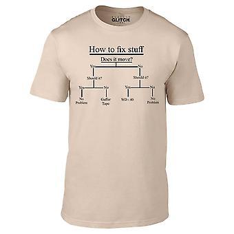 Homens ' s como consertar o material t-shirt.