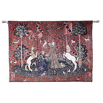 Wall hanging-lady & unicorn sense of taste | home decor, wall tapestry - available in 2 sizes