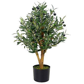 65cm Artificial Olive Pot Plant
