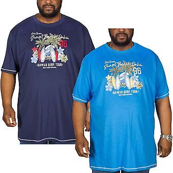 Duke D555 Mens Christian Big Tall King Size Crew Neck Short Sleeve T-Shirt Top