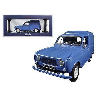 1965 Renault 4 Fourgonette Blue 1/18 Diecast Model Car by Norev