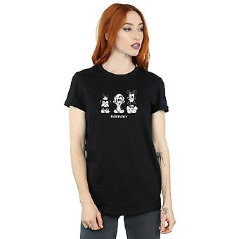 Animaniacs Women's Three Evils Boyfriend Fit T-Shirt