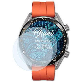 Bruni 2x Screen Protector kompatibel med Huawei Watch GT Active Protective Film