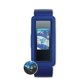 atFoliX 3x Schutzfolie kompatibel mit Fitbit Ace 2 Displayschutzfolie matt&flexibel