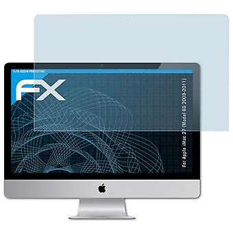atFoliX Glass Protector compatible with Apple iMac 27 (Model 6G 2009-2011) 9H Hybrid-Glass