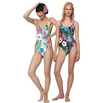 Desigual Women-apos;s Maillot de bain floral tropique