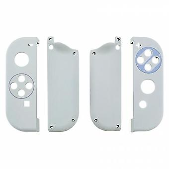 Housing shell for nintendo switch joy-con controller hard casing replacement soft touch snes edition - white | zedlabz