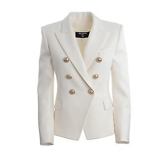 Balmain Tf17110v0900fa Women's White Viscose Blazer
