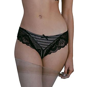Guy de France 201023-D Women's Black Lace Full Brief
