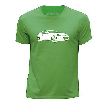 STUFF4 Boys rund hals T-Shirt/Stencil bil kunst / 370Z/grøn