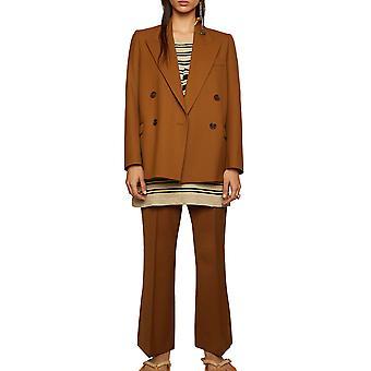 Acne Studios Ah0071295 Women's Brown Polyester Blazer