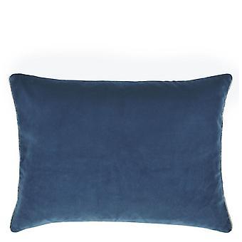 Ontwerpers Gilde Cassia Plain Cushion In Pruisisch & Granietblauw