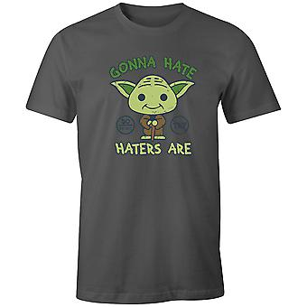 Boys Crew Neck Tee Short Sleeve Men's T Shirt- Gonna Hate, Haters Are