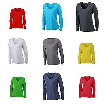James og Nicholson kvinners/damer Stretch langermet t-skjorte