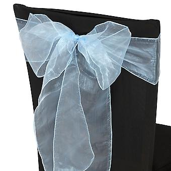 17cm x 274cm Organza Table Runners Wider et Fuller Sashes Baby Blue