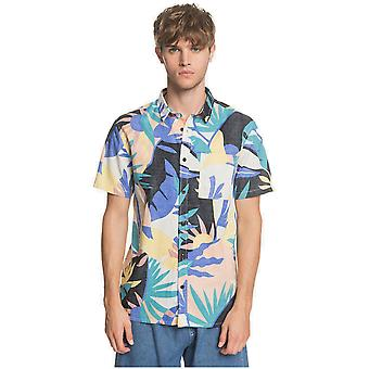 Quiksilver Tropical Flow Short Sleeve Shirt in Snow White Tropical Floral