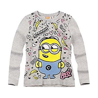 Minions despicable me girls t-shirt grey