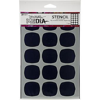 "Dina Wakley Media Stencils 9""X6""-Big Squovals"