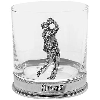 Golf Pewter whisky üveg Single Tumbler