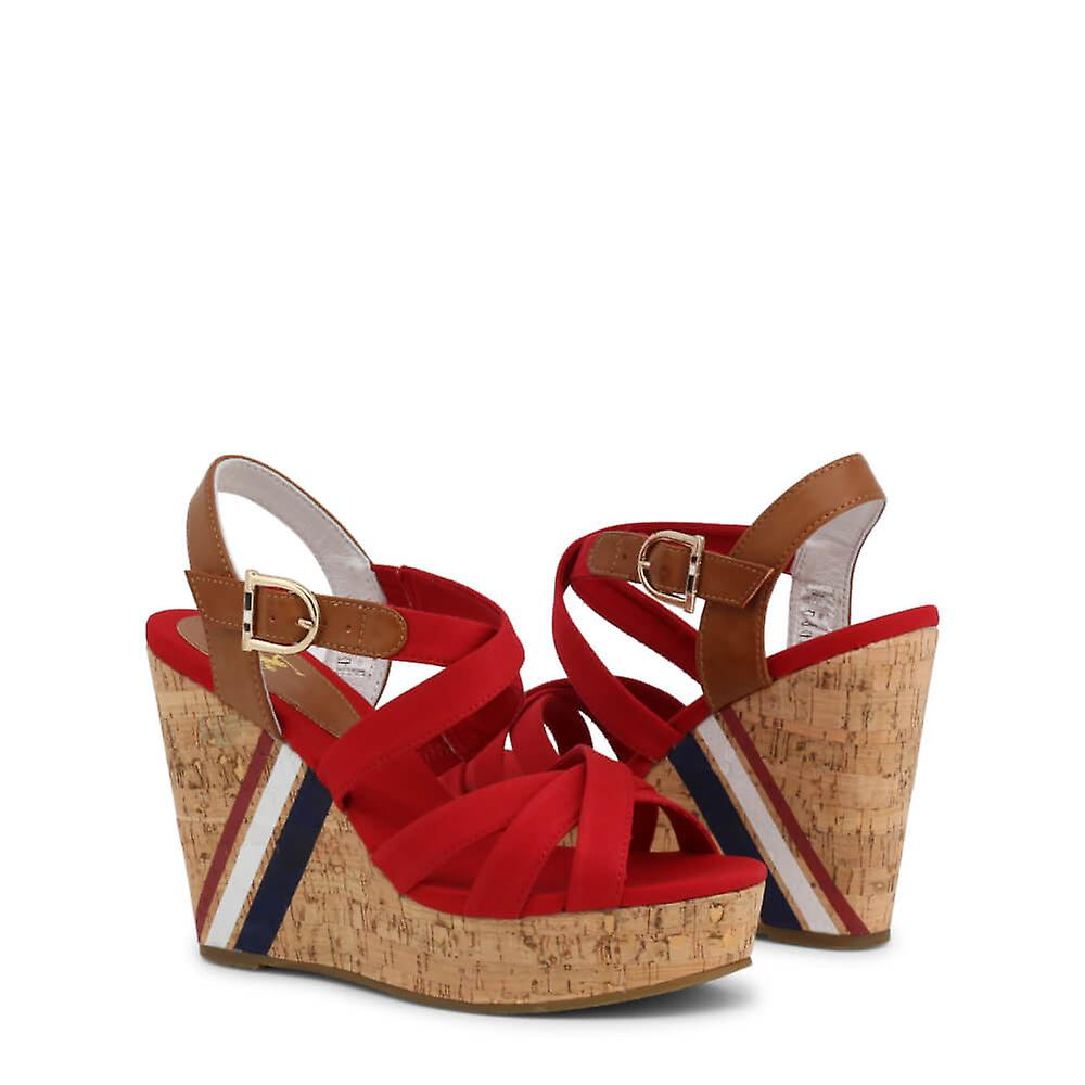 U.s. Polo Assn. Original Women Spring/summer Wedge - Red Color 39531