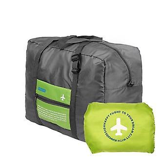 Sammenklappelig Duffel taske med opbevaringspose - Grøn