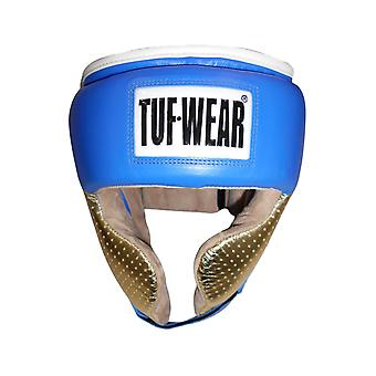 Tuf Indossare Apollo Metallic Leather Headguard con Cheek Blue / Rosa Oro