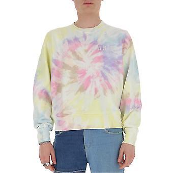 Amiri Y0m02436tepasteltiedye Men's Multicolor Cotton Sweatshirt