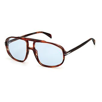 David Beckham DB1000/S 0UC/QZ Red Havana/Azure Photochromic Sunglasses