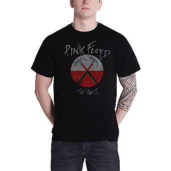 Pink Floyd Camiseta The Wall Hammers Band Logo nuevo Official Mens Black