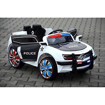 Niños electric Car Police Design Negro con conector MP3, luces de policía LED