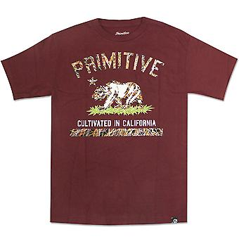 Primitive Apparel Cultivated Blaze T-Shirt Burgundy