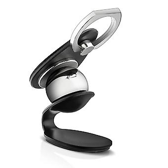 LinQ Magnetic Car Holder and 360 ° Rotating Universal Magnetic Ring Black