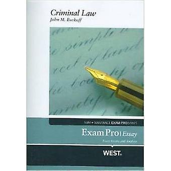 Exam Pro Objective on Criminal Law par John M. Burkoff - Nancy Burkoff